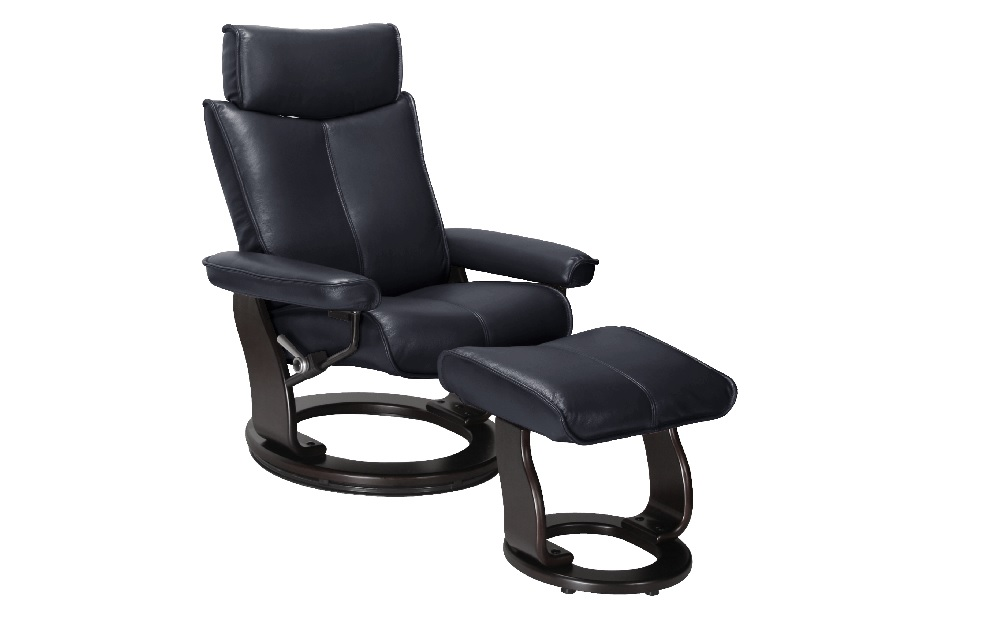 Orebro Leather Recliner And Footstool   Recliner Chairs.